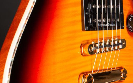 FAME Forum Custom Flamed Maple Top Tobacco Brown Sunburst – Fame Guitars